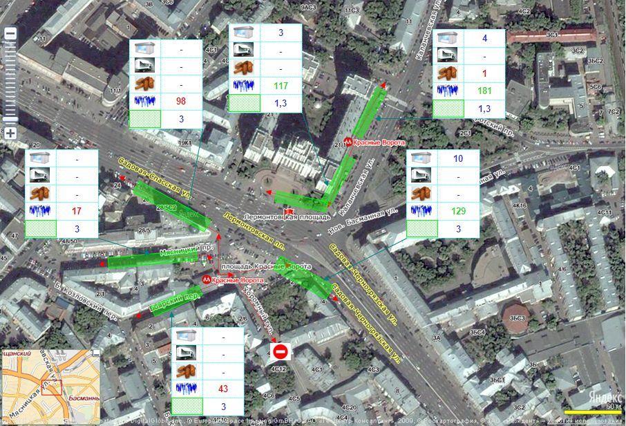 Изображение - Пешеходный трафик на карте москвы zamer_potokov_otchet_4